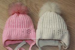 Зимние шапочки для двойняшек