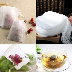 Чайные пакетики, пустые - 100 шт. 5. 5x7см, для трав, чая, пряностей.