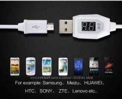 USB кабель-тестер для гаджетов цифр. жк-дисплей