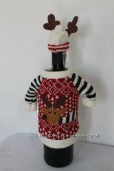 Украшение одежда на бутылку Новый год Рождество