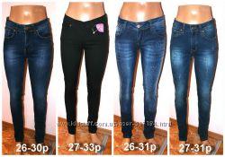 Женские джинсы Турция, слим, копии брендов, качество, р. 26-33