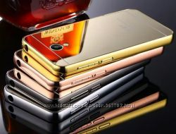 Чехол бампер для Meizu Pro 6 зеркальный