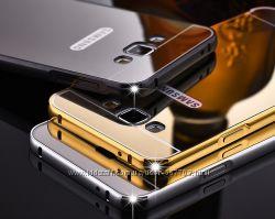 Чехол бампер для Samsung Galaxy J3 J310 2016 Galaxy J2 J200 зеркальный