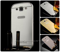 Чехол бампер для Samsung Galaxy Star Advance Duos G350 зеркальный