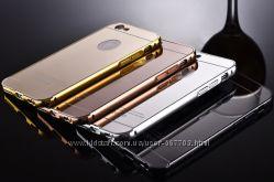 Чехол бампер для iPhone 4 4S 5 5S SE 6 4. 7 зеркальный