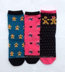 Женские носки Пряничный человечек 3 шт. 37-42р Primark