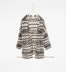 Вязаная курточка - кардиган для девочки 104 см ZARA