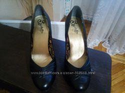 кожаные туфли Seychelles р. 9, 5 стелька 26-26, 5см