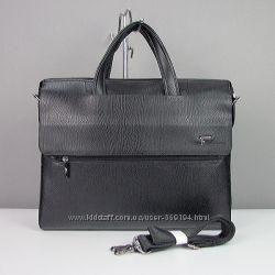 Портфель мужской искусственная кожа черный Fashion