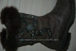 Сапожки Roberto Cavalli, оригинал, коричневые, размер 28