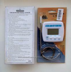 Термометр із зондом і таймером, для допомоги приготування їжі