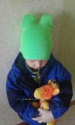 Деми шапка ушки рожки 1-5 лет
