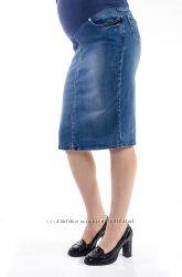 Джинсовая юбка для беременных Турция