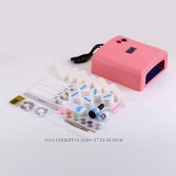 УФ-лампа и набор для  наращивания ногтей