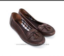 Кожаные туфли с кисточками на девочку, DPAM Франция