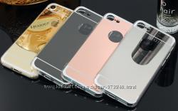 Cиликоновый зеркальный чехол для iphone 7 7пл 8 8золотой серебряный розовый