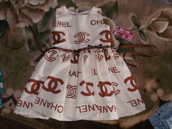 Нарядное платье с лого шанель на 3 года, 98 - 104 см