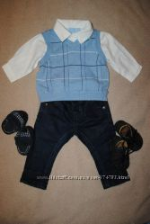 Комплект рубашка и жилеточка