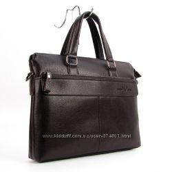 Портфель-сумка кожзам мужской кофе Giorgio Armani 6618-3