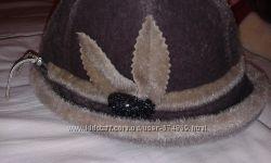 шапка женская под мех нерпы