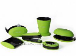 Набор канцтоваров ASY Comf pro  в цвете зеленом, оранжевом, розовом, голу