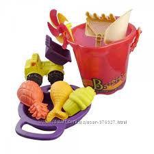 Набор для игры с песком и водой - Ведерце манго 9 предметов