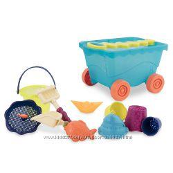 Набор для игры с песком и водой - Тележка море  11 предметов