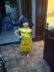 Нарядное яркое платье хлопушки на рост 104, 110