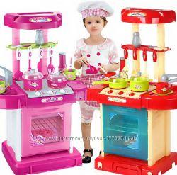 Кухня чемоданчик 008-58А с посудкой 008-58 два цвета