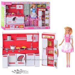 Кукла Defa 8085 и 6085 с кухней Дефа кухня , типа барби