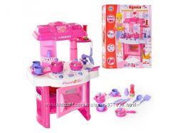 Детская кухня розовая и голубая со звуковыми и световыми эффектами 008-26