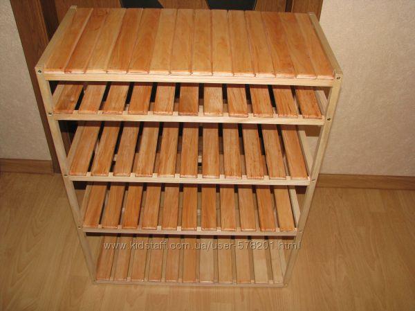Полочка деревянная для обуви в коридор или в шкаф