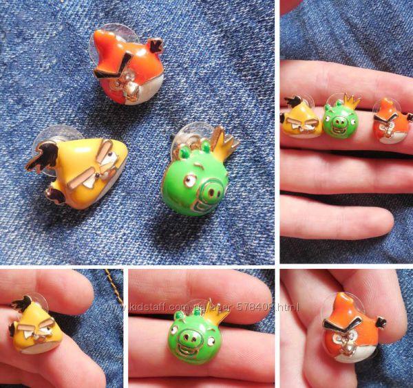 Редкий набор сережек Angry Birds - идеальный подарок