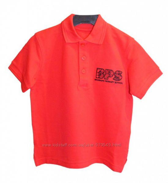 Поло футболки белые и красные MARKS&SPENCER 98 см