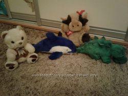 Собачки, дельфин, мишка, бык, динозавр