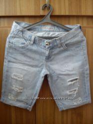 Бриджи джинсовые с дырками
