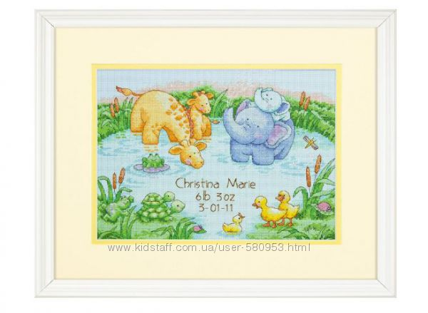 Набор для вышивки крестом Dimensions Little Pond Birth Record