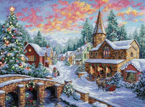 Набор для вышивки Dimensions Holiday Village
