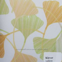 Рулонные шторы Одесса Ткань Клевер Жёлтый, Зелёный, Серый