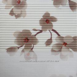 Рулонные шторы День Ночь Ткань Сакура 4 цвета