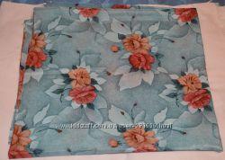 Отрезы ткани шелк, атлас, креп-шифон, крупные цветы