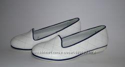 Белые туфли-балетки для девочек 33-38р