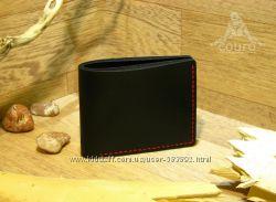 Мужской кожаный кошелек с 6 отделами для карт