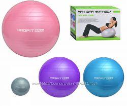 Мяч для фитнеса 55см 65 см 75 см. Фитбол PROFITBALL