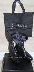 Кожаные зимние полусапожки Soti Sonni на устойчивом каблуке, на 39 размер