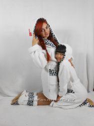 Детский халат с сапожками Белоснежная принцесса и для мамы халат с сапожкам