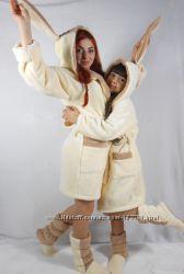 Детский халат с сапожками Белоснежная принцеса