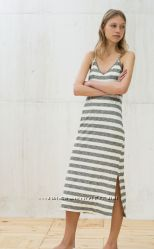 Длинный сарафан Bershka S в полоску, платье
