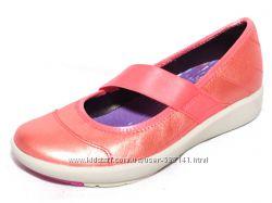 Clarks Wave Gleam corall кожаные  балетки 35. 5