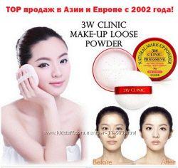 Профессиональная матирующая пудра 3W CLINIC Natural Make Up Powder DoDo Re